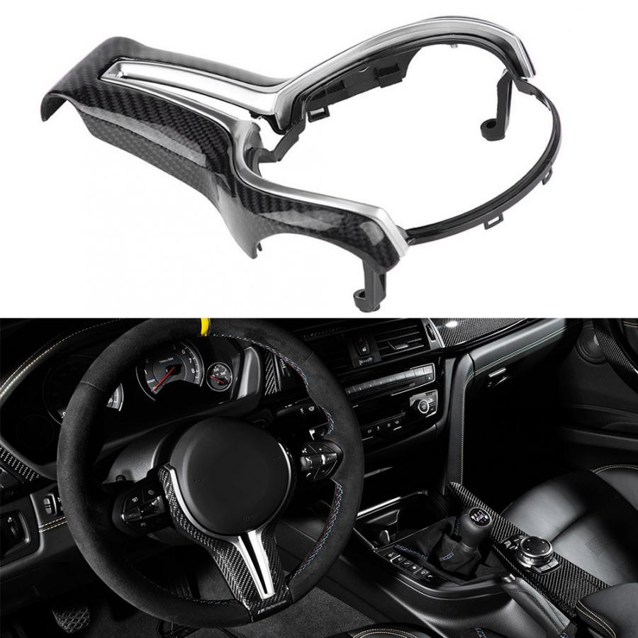Replaced Carbon Fiber Steering Wheel Trim for BMW M2 F87 M3 F80 M4 F82 M5 F10 M6 F06 X5M X6M car styling accessories
