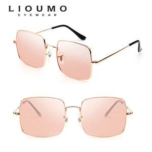 Image 2 - Top Fashion Oversized Style Sunglasses Women Polarized Ocean Color Shade Pink Chameleon Men Photochromic Night Driving Glasses