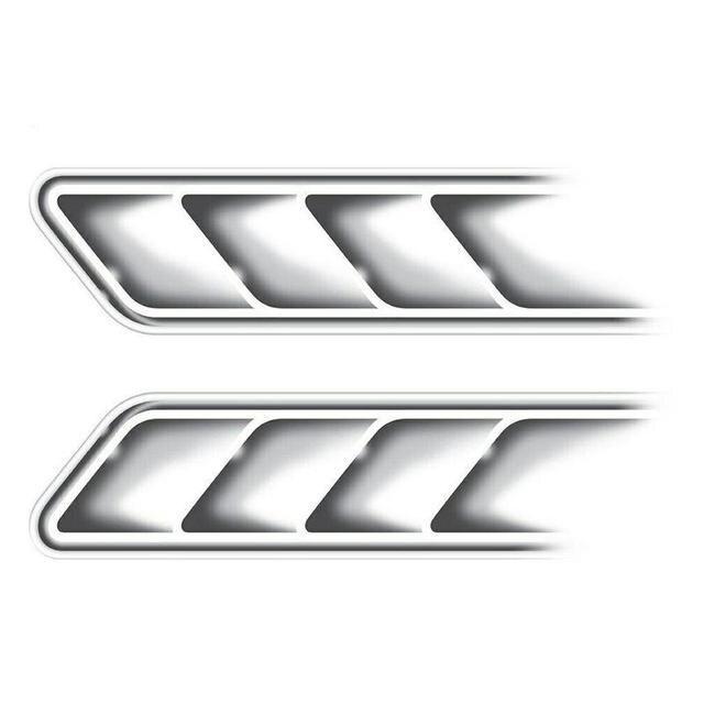 3D faux évents autocollants sortie décorative évents latéraux autocollants autocollants emblème symbole créatif personnalisé voiture style décalcomanie