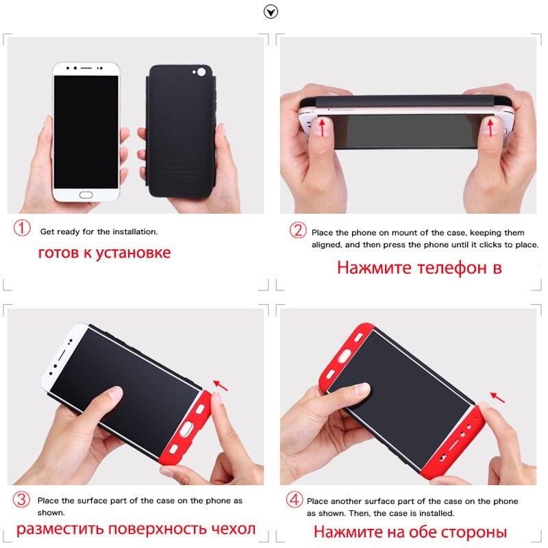 Hdad61a6545c2483cad18d32e577d9d28H 3-in-1 Plastic Hard 360 Tempered Glass + Case for Xiaomi Redmi Note 7 Anti-Shock Back Cover Case for Xiaomi Redmi Note 7 Pro 7A