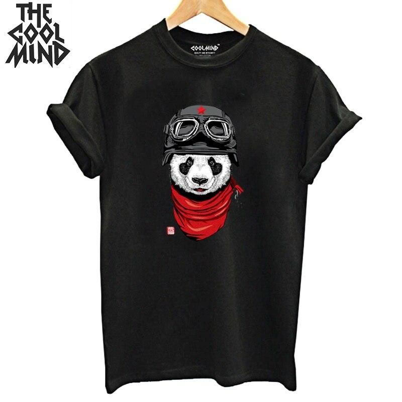 COOLMIND 100% Cotton Panda Print Women T Shirt Casual Short Sleeve Women Tshirt O-neck Women T-shirt Female Tee Shirts