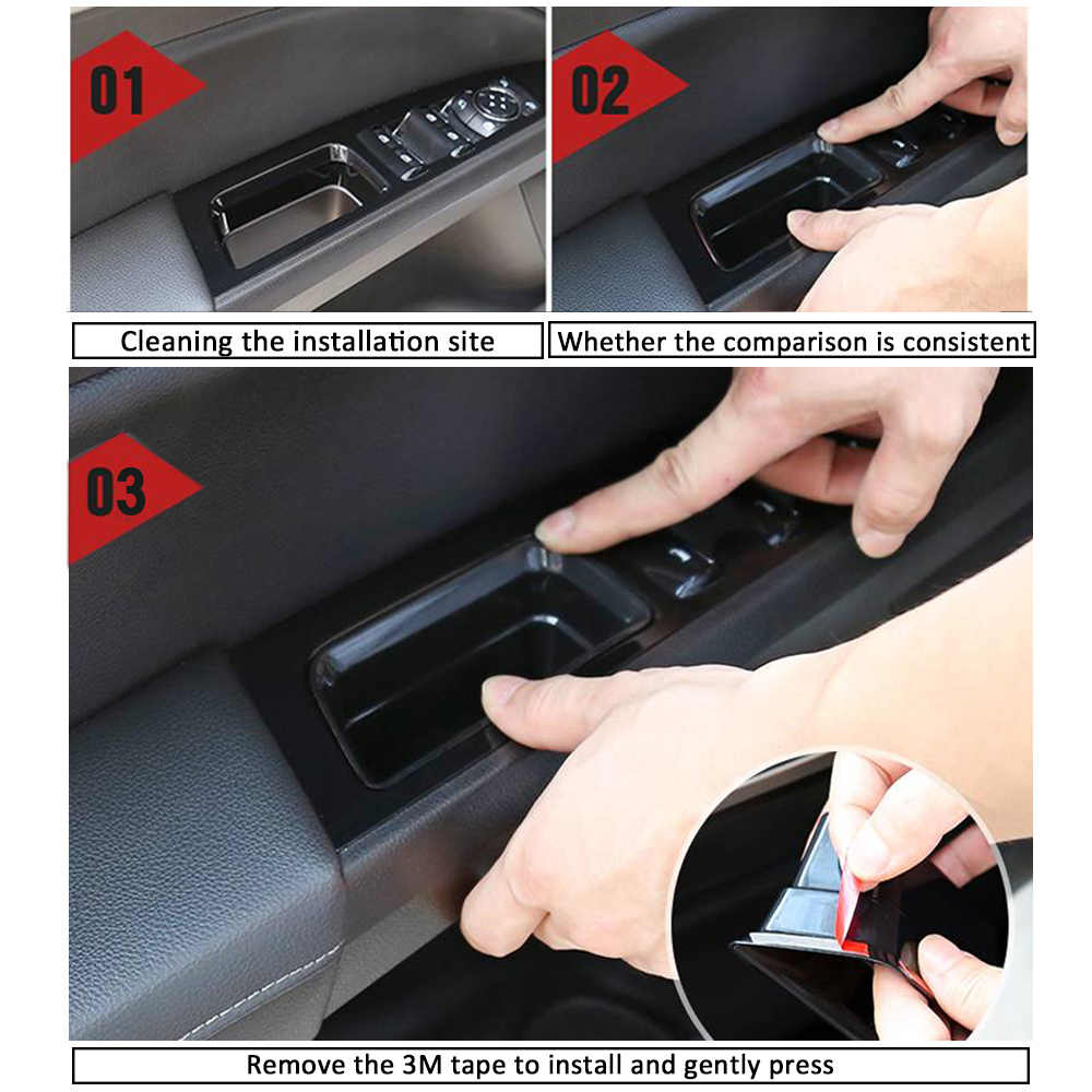 Happy Shop Armrest Storage Box Car Accessories Interior Front//Rear Door Storage Box Armrest Handle Container Holder for Ford Ecosport 2018 2019 interior