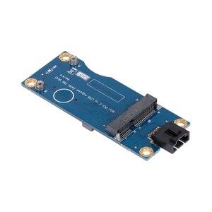 Mini pci-e ao cartão do adaptador de usb com o tipo horizontal do módulo do cartão 3g/4g do adaptador do conversor do teste do entalhe wwan do sim