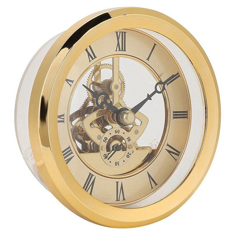 Toy Prop DIY Metal 103mm Built-In Clock Insert Transparent Clock DIY Desk Craft Clock Accessory Carnival Party Watch Repair Tool