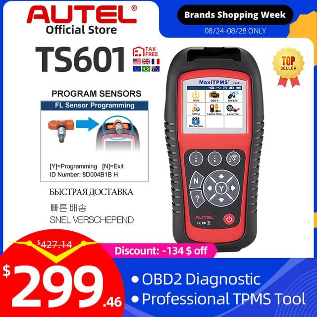 Autel MaxiTPMS TS601 Tire repair tools Car Diagnostic Scanner OBDII Code Reader Activate Programming Mx sensor Free Update