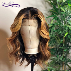 Image 2 - Highlight Lace Front Human Hair Wigs With Baby Hair 13*4/13*6 Remy Body Wave Lace Wig For Women