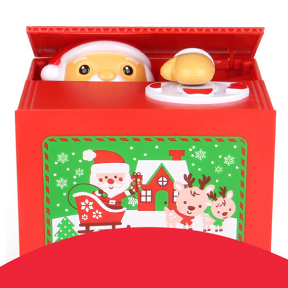 Permalink to Money Boxes Toy Piggy Banks Gift Kids Money Boxes Automatic Stole Coin Piggy Bank Money Saving Box Kids Christmas Santa Thief