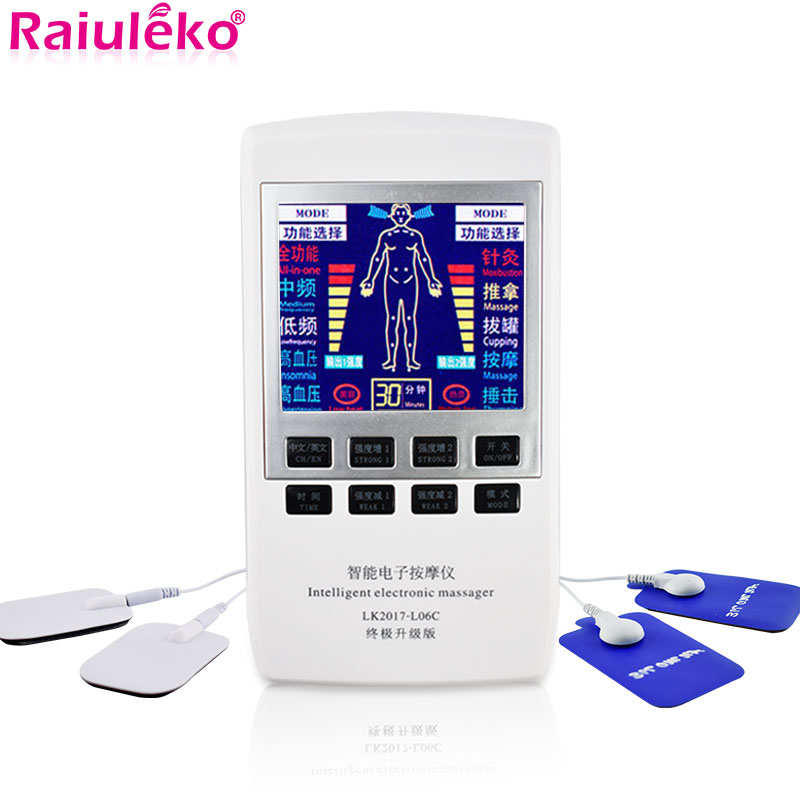 Tens EMS stymulator mięśni wielofunkcyjny masażer elektryczny bańki akupunktura podwójna częstotliwość fizjoterapia urządzenie do masażu