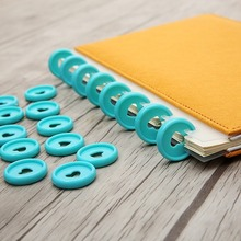 12PCS 24mm mushroom hole binding ring buckle DIY dish-shaped button loose-leaf accessories office learning supplies