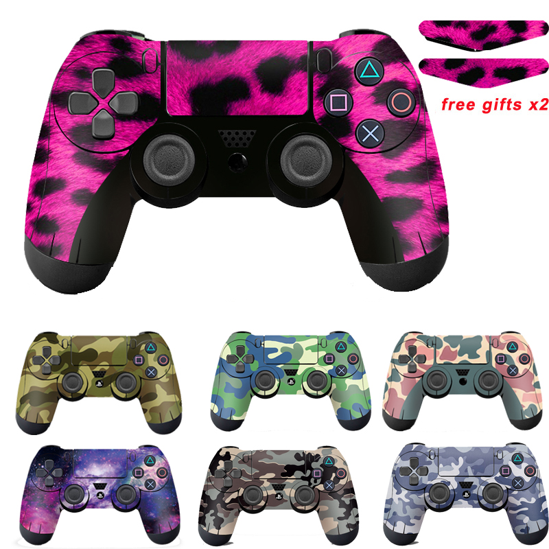 For Sony PS4 Controller Camouflage Vinyl Skin Sticker Cover skin For Playstation 4 Gamepad Decal Joystick Joypad Controle