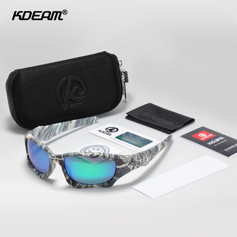 KDEAM Outdoor Sports Polarized Sunglasses Men Curve Cutting Frame Stress-Resistant Lens Shield Sun Glasses Women KD0623 1