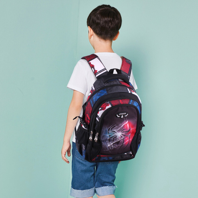 Edison New School Bag Children Backpack Boy Girl School Backpack Miracle Series Cartoon Student Bag 3D Printing Offload Backpack 2