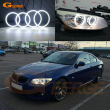 For BMW 3 Series E92 E93 LCI 328i 335i 335is Coupe cabriolet Excellent Ultra bright illumination smd led Angel Eyes halo rings pair e92 h8 10w bulb 20w w cree chips angel eye marker led headlight no error for 07 12 bmw e92 328i 335i coupe m3 e93 e89 z4