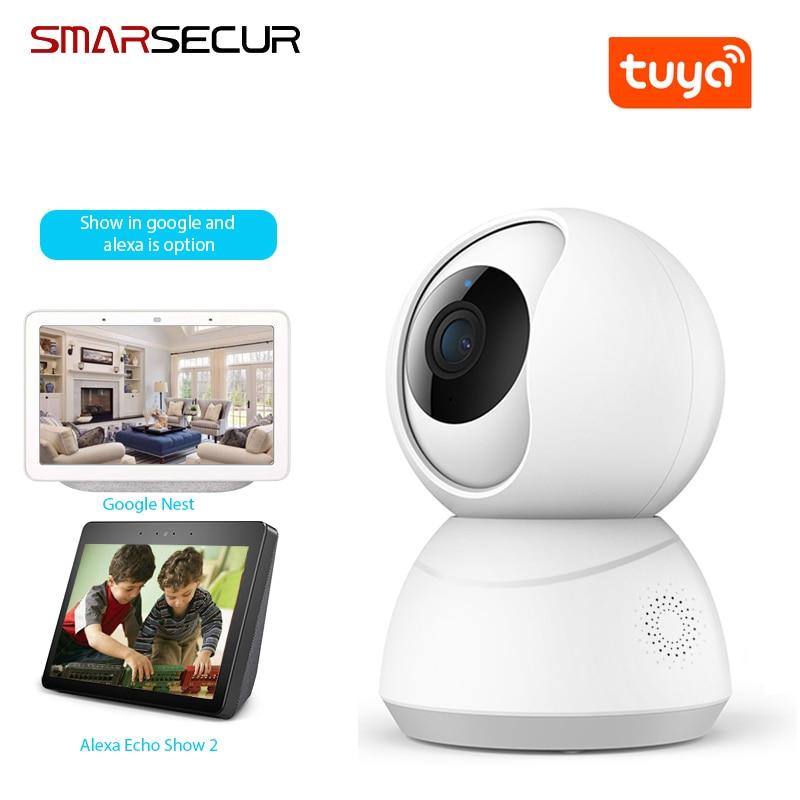 Tuya Smart Camera WiFi Security Rotating Camera HD 1080P Network Two-way Audio IP Camera Work With Alexa Echo Google Assistant