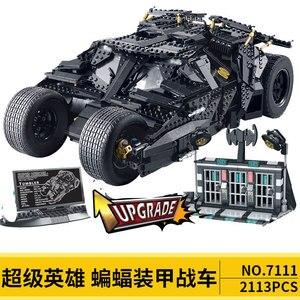 Image 5 - DC Batman Serie Super heroes 7116 Brickheadz Il Bicchiere Bat Mobile Compatibile 7784 Technic Auto Blocchi di Costruzione Giocattoli Regali