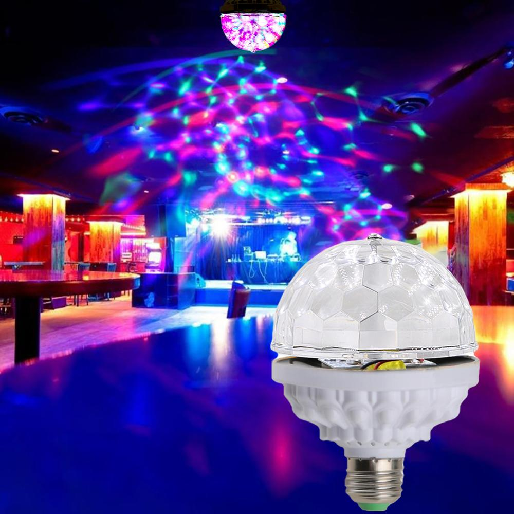 KEY-WIN Disco Ball Party Lights Strobe Light 6W RGB LED Stage Lights For Christmas Home KTV Xmas Wedding Show Party Led