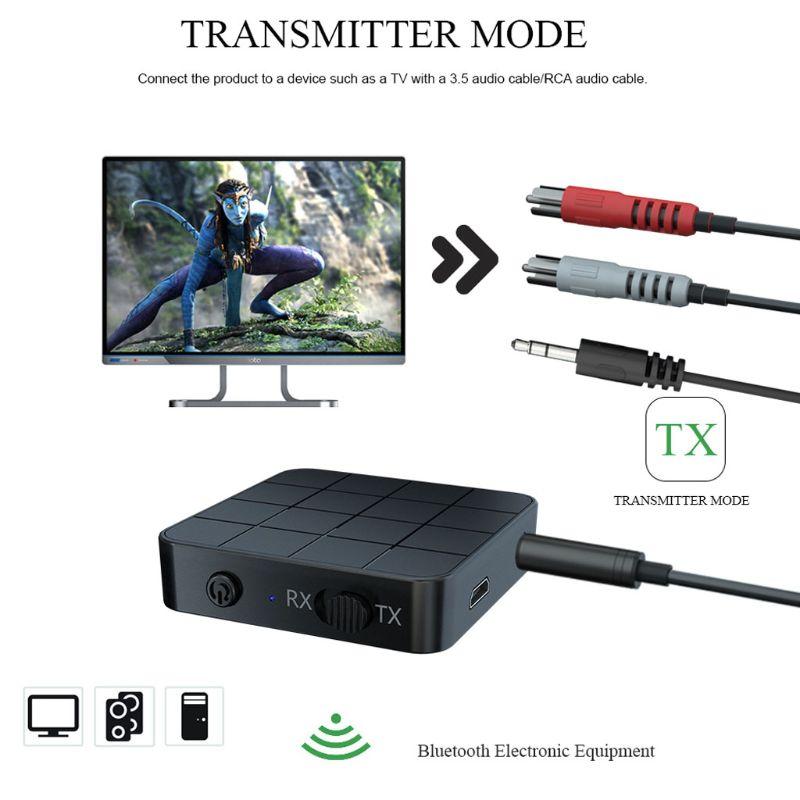 Adaptador de música del transmisor del receptor de Bluetooth 5,0 recargable para el ordenador del coche de la TV MP3 C90F - 2