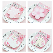 30pcs/pack Japanese Cute Cherry Series Note Card Four Selections Notepad Diary Book Journal Stationery School Supplies cute cartoon journal diary memo note book notepad blank page stationery school note book