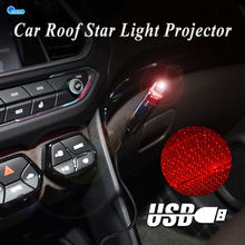 USB Car Roof Star Light Projector Decorative Starry Sky Light 360° Rotating Adjustable Atmosphere Galaxy Lights Ambient Lamp