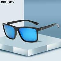 RBUDDY 2019 lunettes de soleil hommes polarisées lunettes de soleil carrées marque Design UV400 protection nuances oculos de sol hombre lunettes pilote