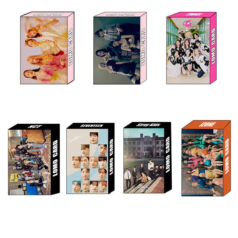 30 Stks/set Kpop Tweemaal Blackpink Nct Zeventien Straykids Izone Album Zelf Gemaakt Papier Lomo Foto Kaart Hd Photocard Collection