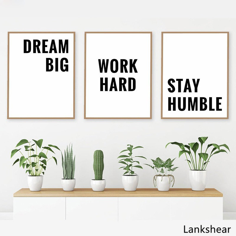 Modern Art Canvas Painting Motivational Quotes Poster Inspirational Words Poster Minimalist Wall Pictures Home Office Decoration image