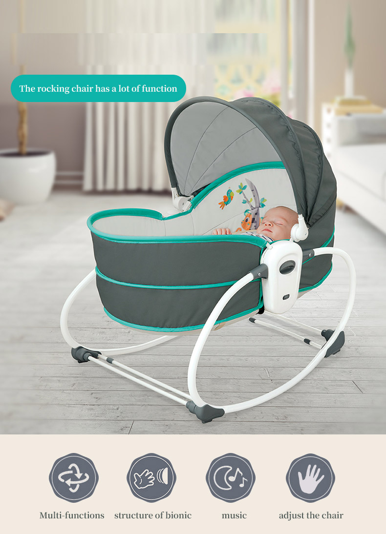 Hdad78380cdd847ee8a9346b5f4427536K Baby electric baby cradle vibration crib in bed rocking chair can do shaker recliner basket three functions optional