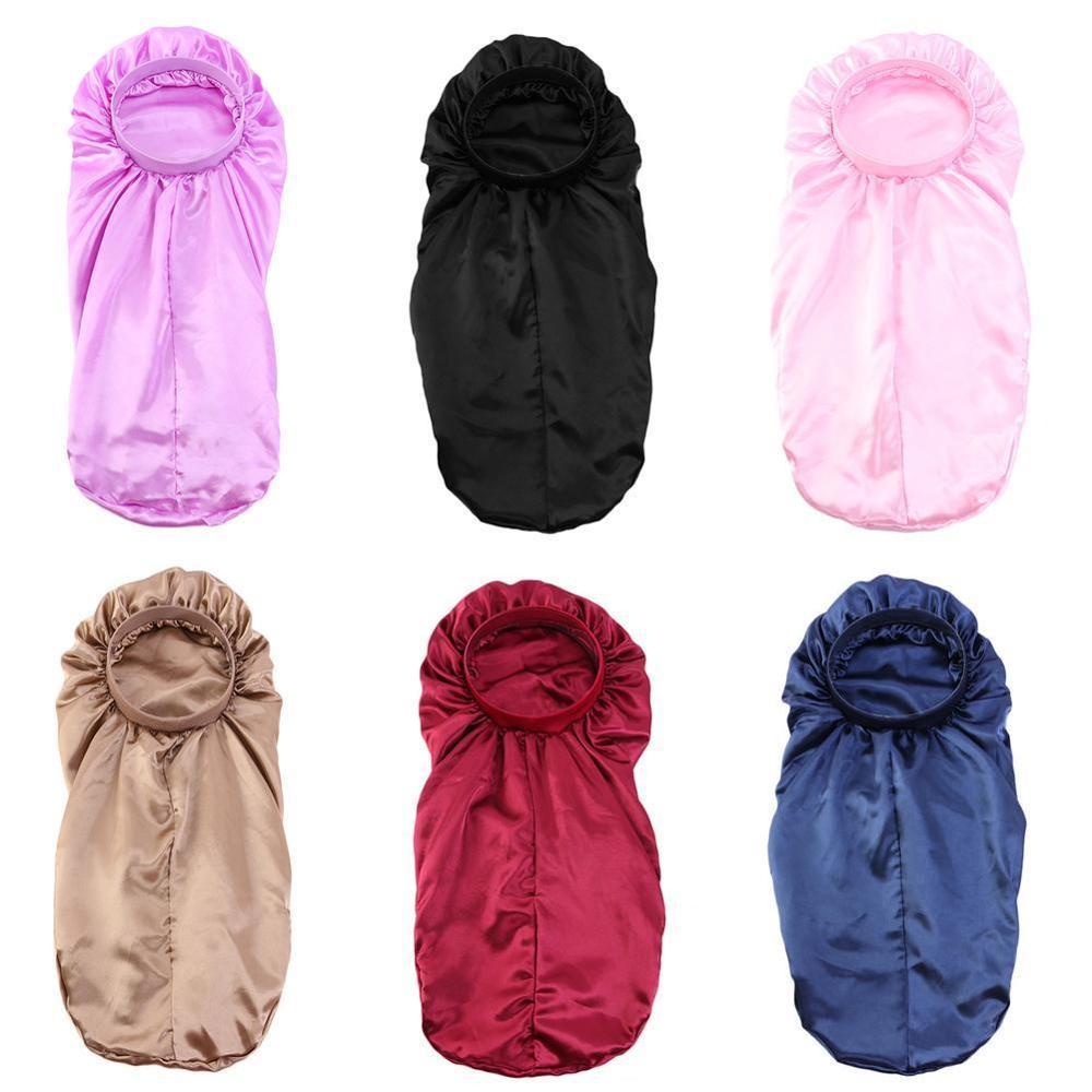 Купить women extra long satin bonnet sleep cap colorful floral dreadlocks