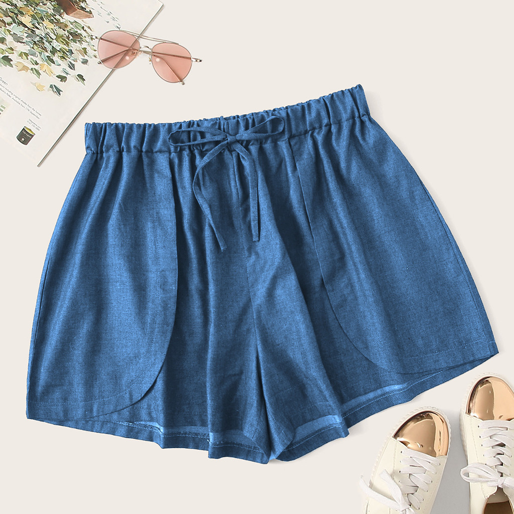 Shorts Women High Waisted Wide Leg Summer   Shorts Loose Beach Casual Short Pants