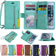 Cüzdan kılıf kapak kılıf iphone 11 Pro X XS XR MAX 6 S 7 8 artı 5 5S SE2020 12mini kart tutucu çanta fermuarlı telefon arka kapak