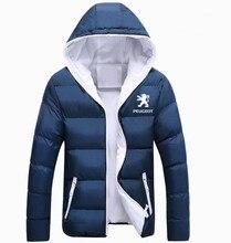 Inverno Coreano nova Impresso Jaqueta Peugeot espessamento JAQUETA casacos roupas masculino casual jaquetas