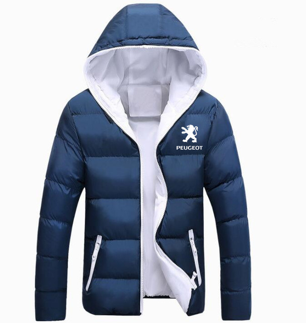 Winter Korean new Printed Down Jacket  Peugeot JACKET thickening coats clothes male casual jackets