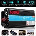 Inversor 12V 220V 4000W Pico 12V A 220V de Tensão do Transformador Conversor de Energia Solar de Onda Senoidal inversor