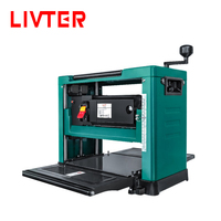 LIVTER 13inch 2000W mini wood planer thicknesser machine woodworking bench thickness planer with 2 free flat blade knives
