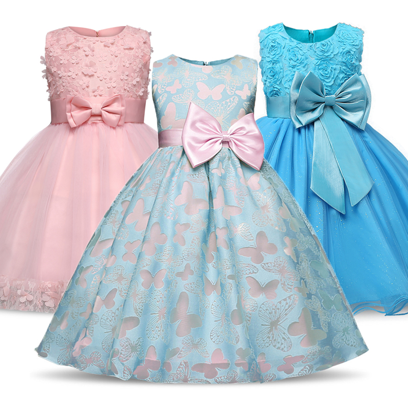 Girl Party dress  sleeveless Baby Girls Clothes Kids Dresses For Girls Lace Flower Children Birthday Party Casual Wear 2-9 Years 1
