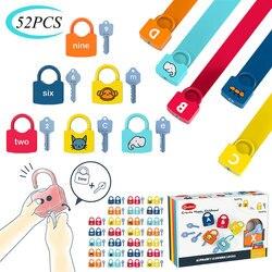 Juego alfanumérico Montessori para niños, juguete educativo de Educación Temprana, Animal alfanumérico a juego, desbloqueado, juego divertido para chico