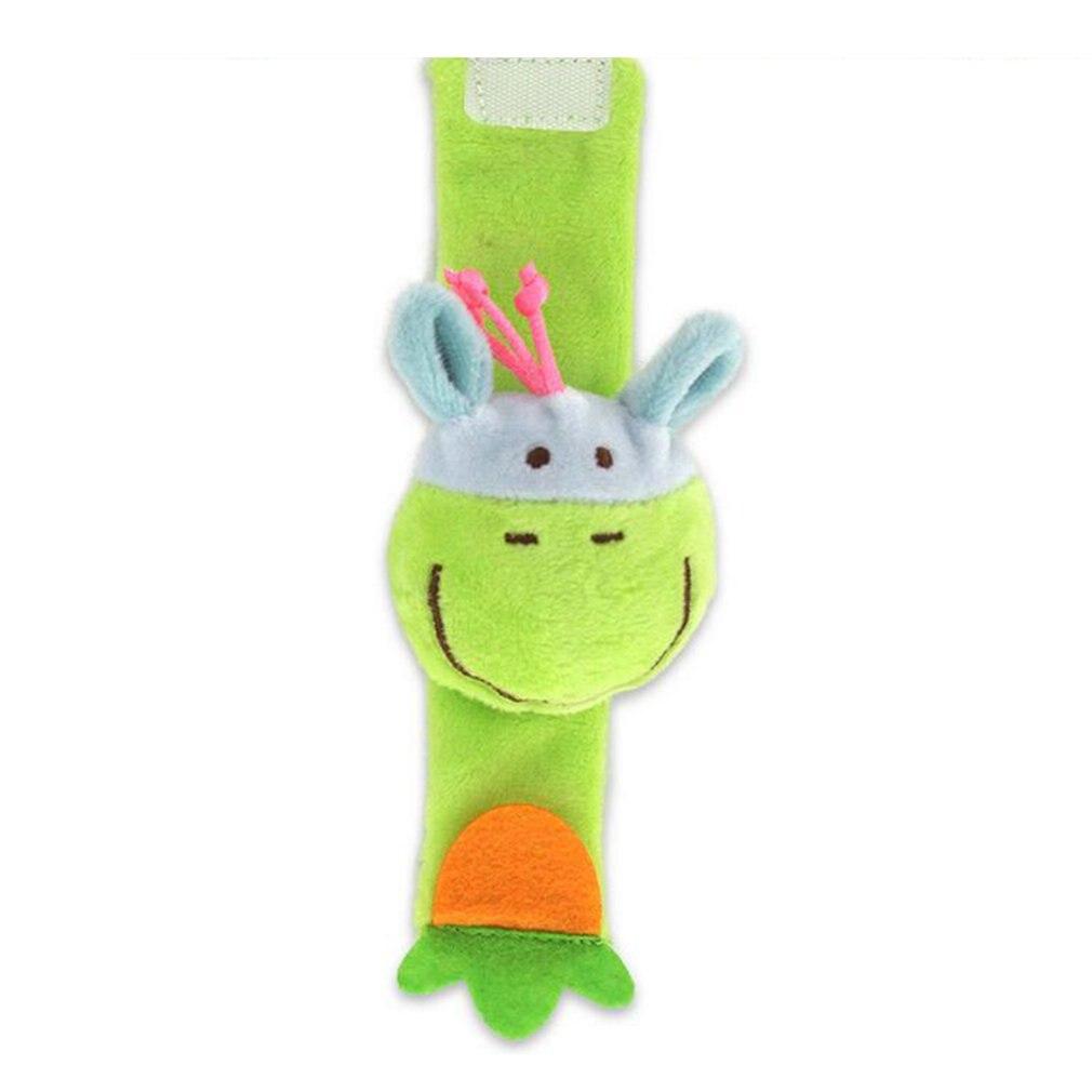 Cartoon Animal Baby Wrist Rattles Baby Toy Wrist Bell Bands Strap Children Infant Newborn Soft Handbells Plush Toy 0-12 Months