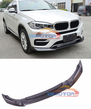 Real Carbon Fiber Front Lip Spoiler for BMW X6 F16 xDrive Series 15UP B463 image