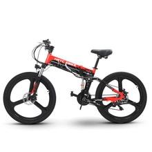 Электрический велосипед 48 в два колеса Электрический велосипед 400 Вт 35 км/ч 21 скорость 26 дюймов горный складной мощный электрический велосипед