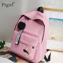 цена на High Quality New Arrival Women's Canvas Backpack School bag For Girls Ptgirl Rucksack New Design Backpack School bags Travel Sac