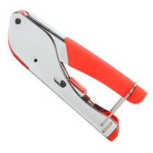 Pince à sertir Coaxial RG59 RG6, pince à sertir les bornes de Compression coaxiale, connecteur de type F, dénudeur de câble Coaxial, pince de réseau