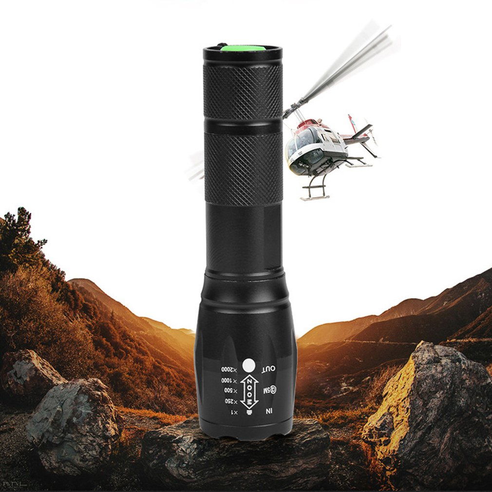 T6 Telescopic Light Flashlight Five-speed Light Flashlight R5t6/l2 Telescopic Zoom Charging Super Bright