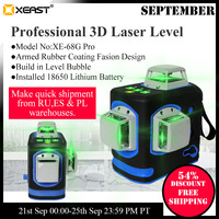2020 Hot Sales XEAST XE 68G Pro Laser Levels 360 12 Lines Cross Level Self Leveling Outdoor Professional Construction Tools