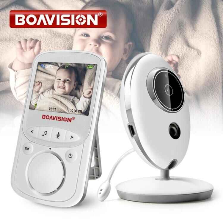 Inalámbrico LCD Audio Video Monitor de bebé VB605 Radio niñera música intercomunicador IR 24 h portátil Cámara bebé Walkie Talkie niñera