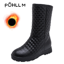 PUHLLM 2019 New Snow Shoes For Women Boots winter boots women in women's snow 34-46 female+shoes Slip-On  Large Size F669