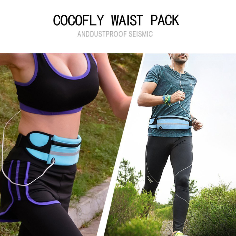 Travel multifunctional Sports pocket mini fanny pack for men women Portable convenient USB waist pack  waterproof phone belt bag 6