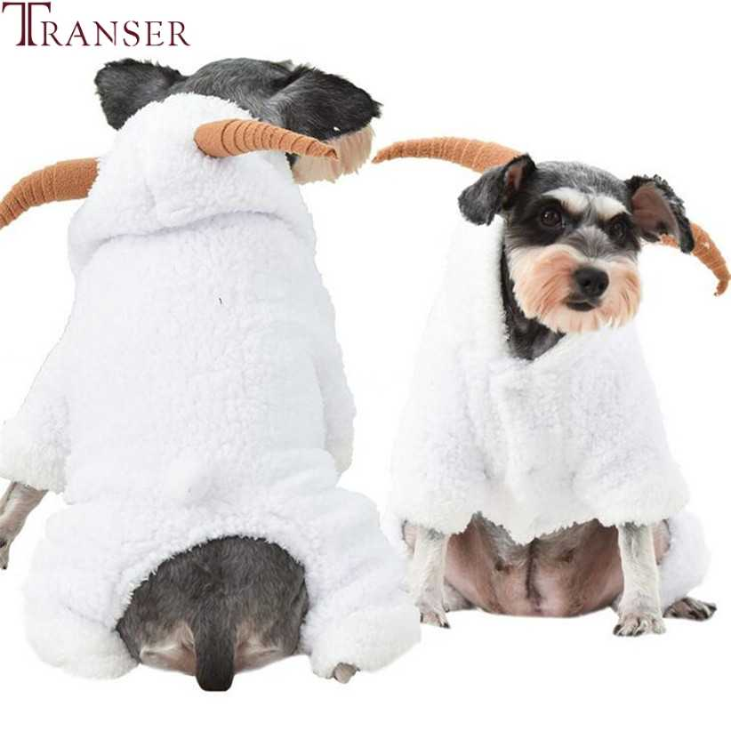 Transfer beyaz koyun Pet köpek giysileri kış sıcak polar köpek tulumlar yavru eşofman tulum dört bacak pantolon köpekler kostüm 910