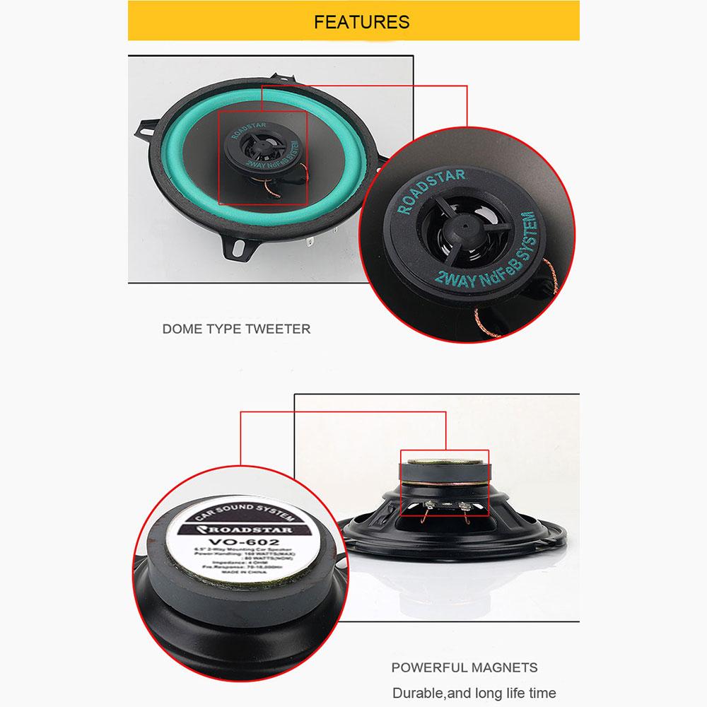 1 шт. 6,5 дюйма 160 Вт Универсальный Автомобильный HiFi коаксиальный динамик дверь автомобиля Авто Аудио Музыка Стерео полный диапазон частоты динамик s
