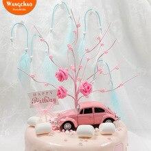 Творческий жемчужное дерево Топпер для торта «С Днем Рождения» Сладкий Свадебный Торт украшения вечерние принадлежности аксессуары Романтический торт украшения