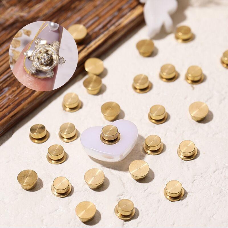 30 шт./упак. металлический поворотный подшипник вала для вращающийся 3D искусство украшения ногтей, сделай сам, Ювелирные изделия из кристалл...